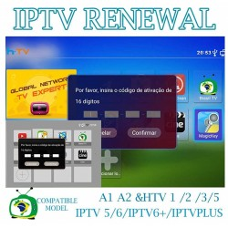 IPTV Box Activation Renew Code code for A1 / A2 / HTV / IPTV 5 / IPTV6 / KING 16 digits